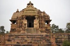 Ναός Jagdambi, Khajuraho, Ινδία Στοκ Φωτογραφία