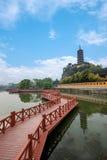 Ναός Jinshan, λίμνη Jinshan, Zhenjiang, Jiangsu Στοκ εικόνες με δικαίωμα ελεύθερης χρήσης