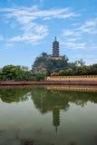 Ναός Jinshan, λίμνη Jinshan, Zhenjiang, Jiangsu Στοκ Εικόνες
