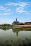Ναός Jinshan, λίμνη Jinshan, Zhenjiang, Jiangsu Στοκ εικόνα με δικαίωμα ελεύθερης χρήσης