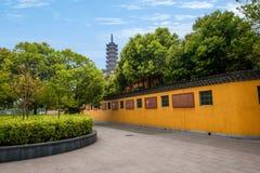 Ναός Jinshan, πολιτιστικός κήπος έκθεσης Jinshan, Zhenjiang, επαρχία Jiangsu Στοκ εικόνα με δικαίωμα ελεύθερης χρήσης