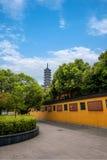 Ναός Jinshan, πολιτιστικός κήπος έκθεσης Jinshan, Zhenjiang, επαρχία Jiangsu Στοκ εικόνες με δικαίωμα ελεύθερης χρήσης