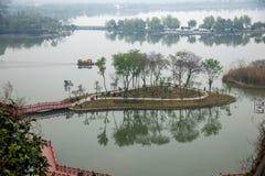 Ναός Jinshan σε Zhenjiang της επαρχίας Jiangsu Στοκ εικόνες με δικαίωμα ελεύθερης χρήσης