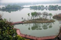Ναός Jinshan σε Zhenjiang της επαρχίας Jiangsu Στοκ Εικόνες