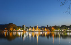 Ναός Jong klang τη νύχτα Στοκ φωτογραφία με δικαίωμα ελεύθερης χρήσης