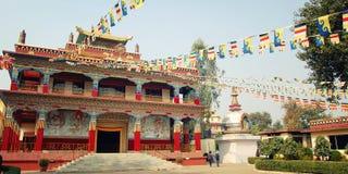 Ναός Karma Βουδιστικός ναός σε Bodh Gaya, Ινδία Στοκ Φωτογραφία