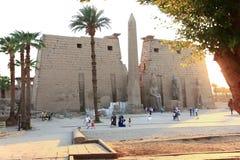 Ναός Karnak - ο περισσότερος τεράστιος ναός στην Αίγυπτο Στοκ Εικόνα