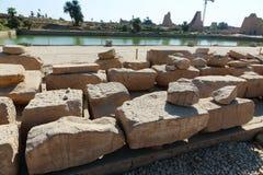 Ναός Karnak - ο περισσότερος τεράστιος ναός στην Αίγυπτο Στοκ φωτογραφίες με δικαίωμα ελεύθερης χρήσης
