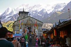 Ναός Kedranath σε Garhwal, Uttarkhand, Ινδία Στοκ Φωτογραφίες
