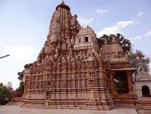 Ναός Khajuraho, περιοχή παγκόσμιων κληρονομιών της ΟΥΝΕΣΚΟ Α Στοκ Εικόνα