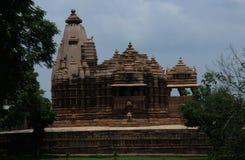 ναός khajuraho της Ινδίας Στοκ εικόνα με δικαίωμα ελεύθερης χρήσης