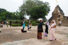 ναός khajuraho της Ινδίας Στοκ Φωτογραφίες
