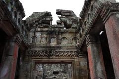 Ναός Khan Preah σε Angkor Στοκ Φωτογραφίες