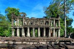 Ναός Khan Preah, Angkor Wat Στοκ Εικόνες