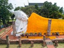 Ναός Khun Intha Pramun Wat στην επαρχία Angthong, ιστορική Στοκ εικόνα με δικαίωμα ελεύθερης χρήσης