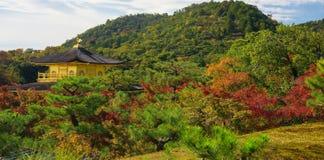 Ναός Kinkakuji στο φθινόπωρο στο Κιότο Στοκ φωτογραφία με δικαίωμα ελεύθερης χρήσης