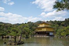 Ναός Kinkakuji, το χρυσό περίπτερο Στοκ εικόνες με δικαίωμα ελεύθερης χρήσης