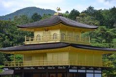 Ναός Kinkakuju (χρυσό περίπτερο) στο Κιότο, Ιαπωνία στοκ εικόνα