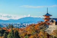 Ναός kiyomizu-Dera στοκ εικόνα με δικαίωμα ελεύθερης χρήσης