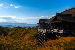 Ναός kiyomizu-Dera στο Κιότο, Ιαπωνία Στοκ Εικόνες