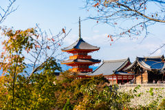 Ναός kiyomizu-Dera στο Κιότο, Ιαπωνία Στοκ Φωτογραφίες