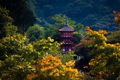 Ναός kiyomizu-Dera στο Κιότο, Ιαπωνία Στοκ φωτογραφίες με δικαίωμα ελεύθερης χρήσης