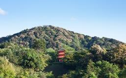 Ναός kiyomizu-Dera το καλοκαίρι στο Κιότο, Ιαπωνία στοκ εικόνα