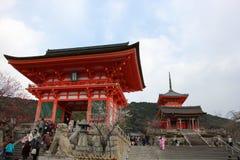 Ναός kiyomizu-Dera Στοκ φωτογραφία με δικαίωμα ελεύθερης χρήσης