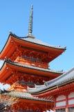 Ναός Kiyomizudera Στοκ φωτογραφία με δικαίωμα ελεύθερης χρήσης