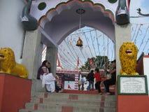 Ναός Kunjapuri κοντά σε Rishikesh Ινδία στοκ φωτογραφία