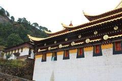 Ναός Langmu της θιβετιανής αρχιτεκτονικής Στοκ Εικόνες