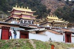 Ναός Langmu του θιβετιανού βουδισμού στην Κίνα Στοκ Εικόνες