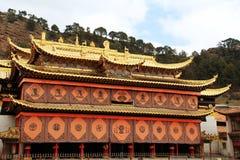 Ναός Langmu του θιβετιανού βουδισμού στην Κίνα Στοκ εικόνα με δικαίωμα ελεύθερης χρήσης