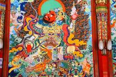 Ναός Langmu του θιβετιανού βουδισμού στην Κίνα Στοκ Εικόνα