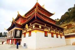 Ναός Langmu του θιβετιανού βουδισμού στην Κίνα Στοκ Φωτογραφία