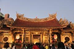 Ναός Longshan στο Ταιπέι, Ταϊβάν 2017 Στοκ φωτογραφία με δικαίωμα ελεύθερης χρήσης