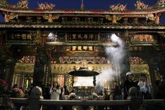 Ναός Longshan στο Ταιπέι, Ταϊβάν 2017 Στοκ Φωτογραφίες