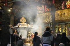 Ναός Longshan στο Ταιπέι, Ταϊβάν 2017 Στοκ εικόνες με δικαίωμα ελεύθερης χρήσης