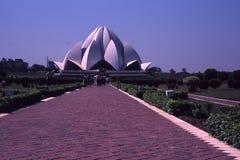 Ναός Lotus, Δελχί, Ινδία Στοκ φωτογραφία με δικαίωμα ελεύθερης χρήσης