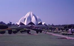 Ναός Lotus, Δελχί, Ινδία Στοκ εικόνες με δικαίωμα ελεύθερης χρήσης