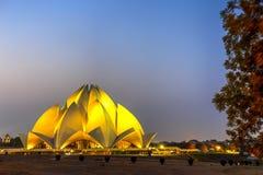 Ναός Lotus, Νέο Δελχί, Ινδία Στοκ φωτογραφίες με δικαίωμα ελεύθερης χρήσης