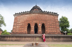 Ναός Madanmohan, Bishnupur, Ινδία στοκ εικόνα