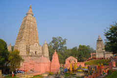 Ναός Mahabodhi, bodh gaya, Ινδία Η περιοχή όπου Gautam Βούδας Στοκ Εικόνες