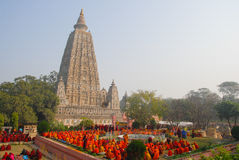 Ναός Mahabodhi, bodh gaya, Ινδία Η περιοχή όπου Gautam Βούδας Στοκ Φωτογραφία