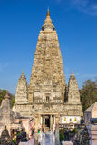Ναός Mahabodhi, bodh gaya, Ινδία Στοκ εικόνα με δικαίωμα ελεύθερης χρήσης