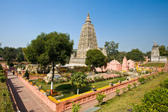 ναός mahabodhi bodhgaya Στοκ Φωτογραφία