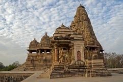 Ναός Mahadeva Kandariya, που αφιερώνονται σε Shiva, δυτικοί ναοί Khajuraho, Madhya Pradesh, Ινδία - περιοχή παγκόσμιων κληρονομιών Στοκ Φωτογραφίες