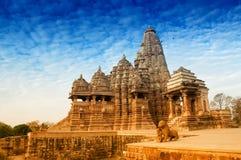 Ναός Mahadeva Kandariya, Khajuraho, κόσμος Ινδία-ΟΥΝΕΣΚΟ heritag Στοκ Φωτογραφία