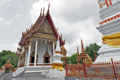 Ναός Mahathat Wat σε στο κέντρο της πόλης Yasothon, βορειοανατολική επαρχία Isan της Ταϊλάνδης Στοκ Φωτογραφία