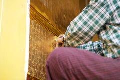 Ναός Mandalay, το Μιανμάρ του Βούδα Mahamuni στοκ εικόνες